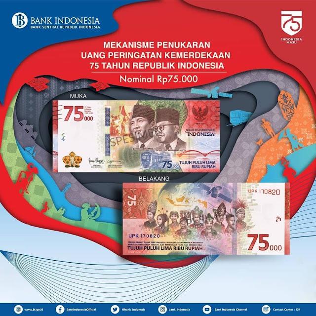 Gambar digital uang pecahan Rp75.000