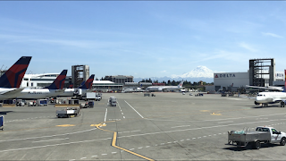 A view of Mt. Rainier from SEA-TAC Airport