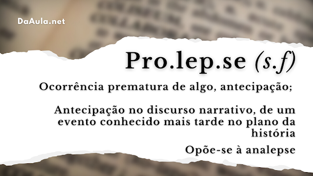 Qual significado da Palavra Prolepse?