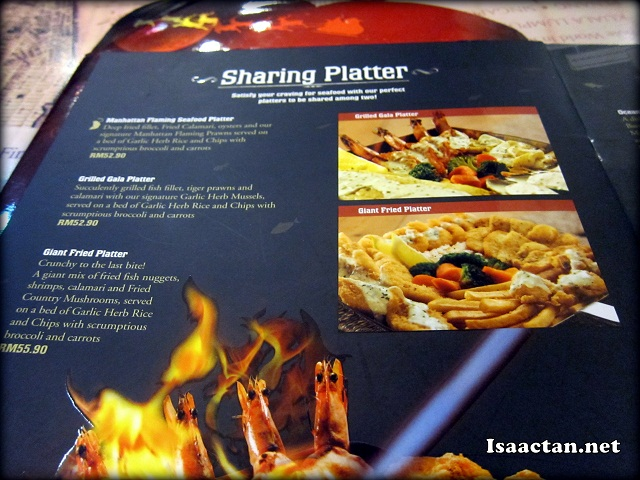 Manhattan Fish Market Restaurant Menu