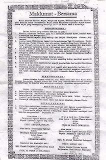 Maklumat Bersama bukti sejarah