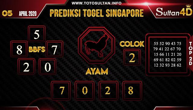 PREDIKSI TOGEL SINGAPORE SULTAN4D 05 APRIL 2020