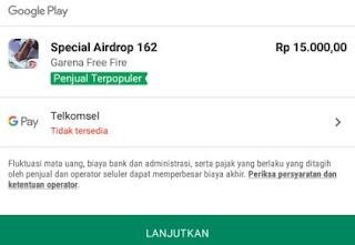 Cara beli Special Airdrop Free Fire dengan Pulsa Telkomsel