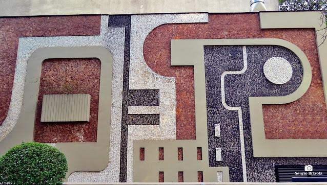 Close-up do Mosaico de Roberto Burle Marx - Avenida Paulista - São Paulo