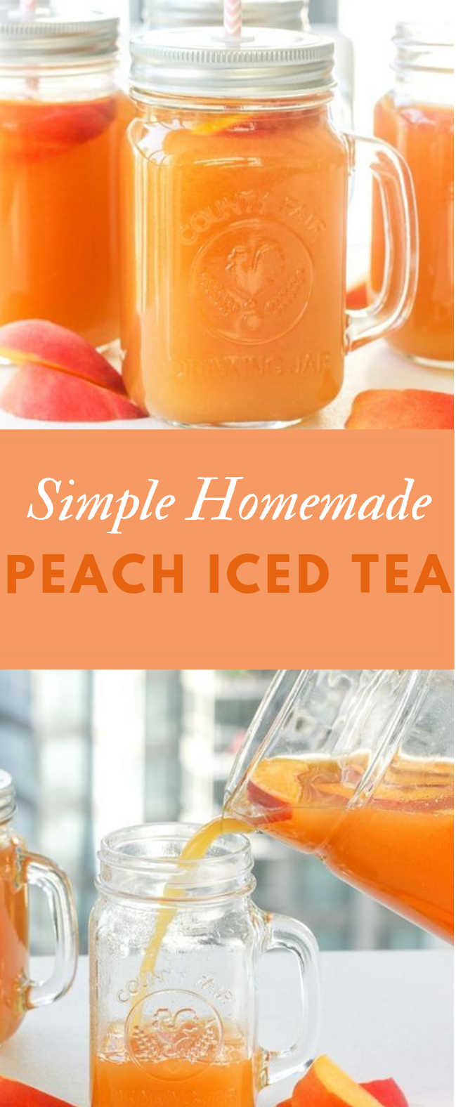 SIMPLE HOMEMADE PEACH ICED TEA #drink #fresh drinks