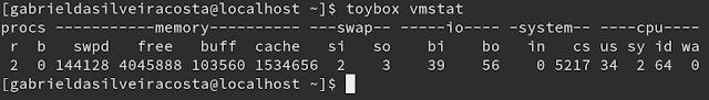 Atualmente, o vmstat do toybox 0.8.3 é assim