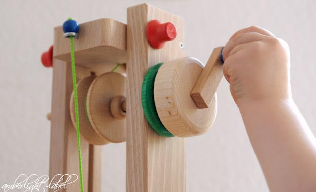 holzspielzeug lift f r die drewa kugelbahn amberlight label. Black Bedroom Furniture Sets. Home Design Ideas