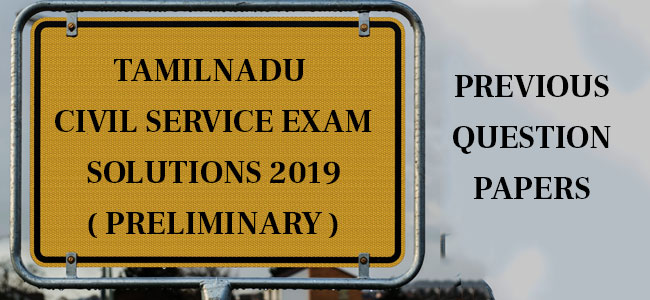 Tamilnadu Civil Service KAS Exam 2019 Answer Key