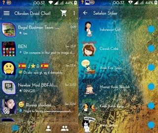 BBM Mod Droid Chat! v3.1.0.13 Transparan Backup Sticker