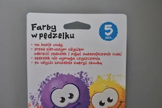 Farby w pędzelku z Biedronki st. majewski