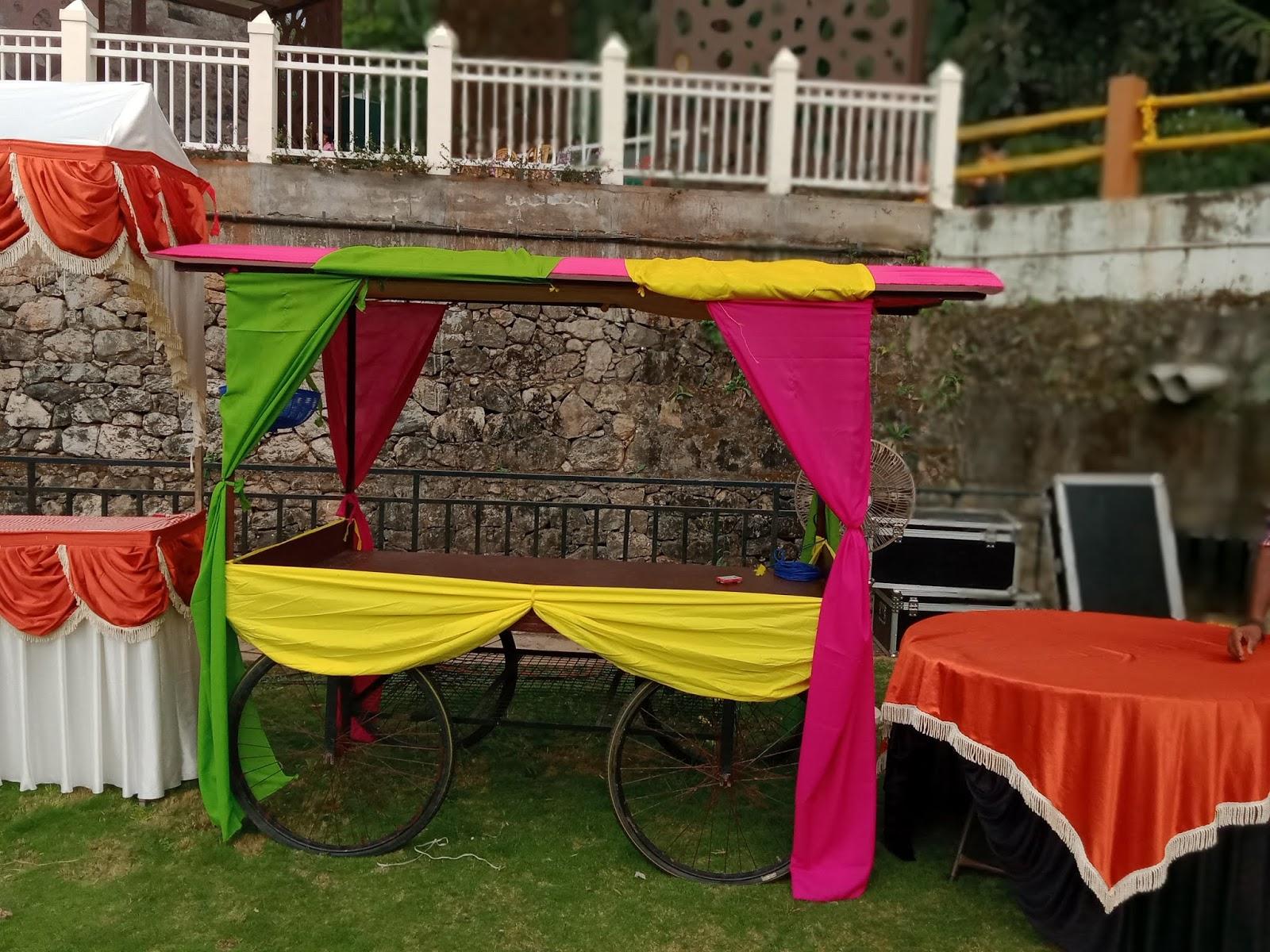 return gift cart wedding  decoration