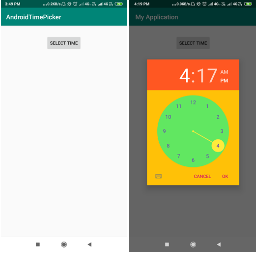 Android TimePicker Dialog