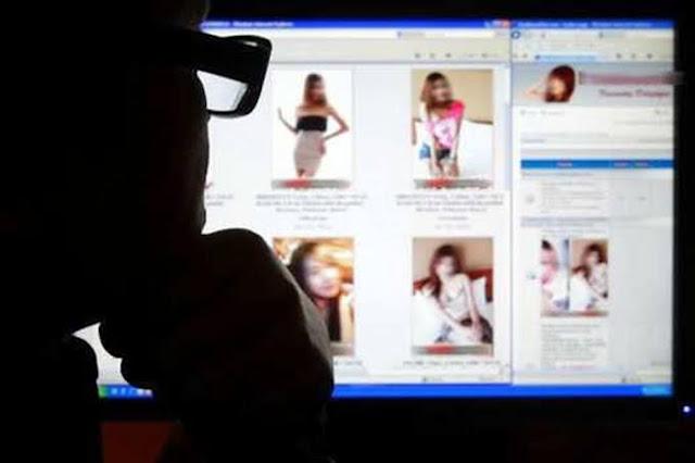 Ilustrasi prostitusi online.