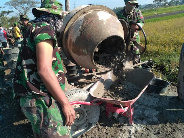 Betonisasi Jalan Desa Jimbung Capai 350 Meter