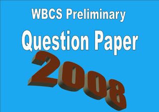 WBCS Preliminary Question Paper 2008
