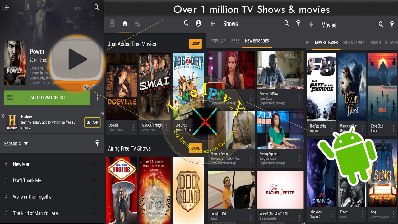 best streaming tv online yidio tv show amp movie guide apk
