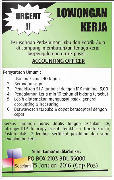 Lowongan Kerja Terbaru Untuk Usia 40 Tahun Portal Info Lowongan Kerja Terbaru Di Solo Raya Lowongan Kerja Accounting Officer Lampung Lowongankerjain