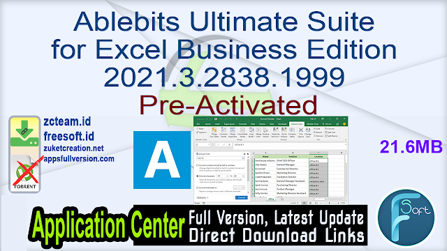 Ablebits Ultimate Suite for Excel Business Edition 2021.3.2838.1999 Pre-Activated_ ZcTeam.id