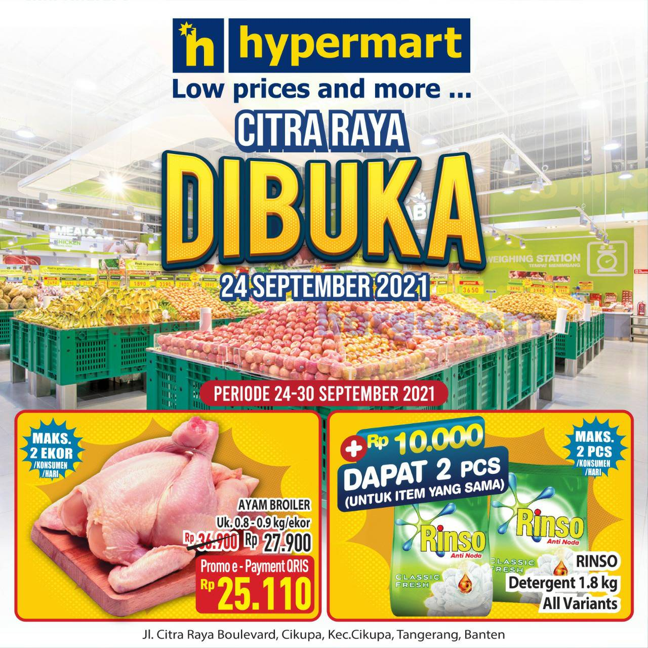 HYPERMART CITRA RAYA Promo Grand Opening