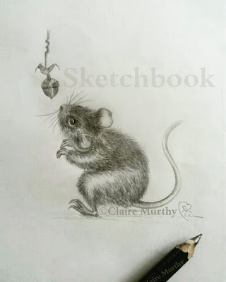 wildlife art graphite mouse