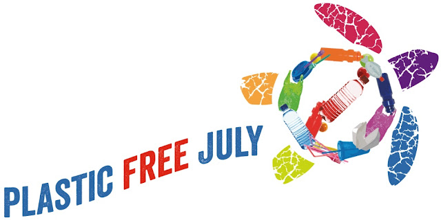 Logo of Plastic Free July 2019