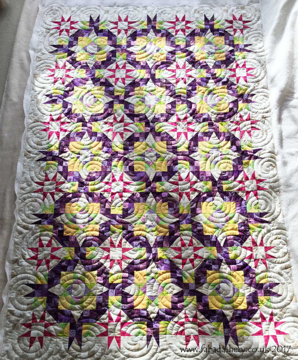 Fabadashery Longarm Quilting En Provence Mystery 2016