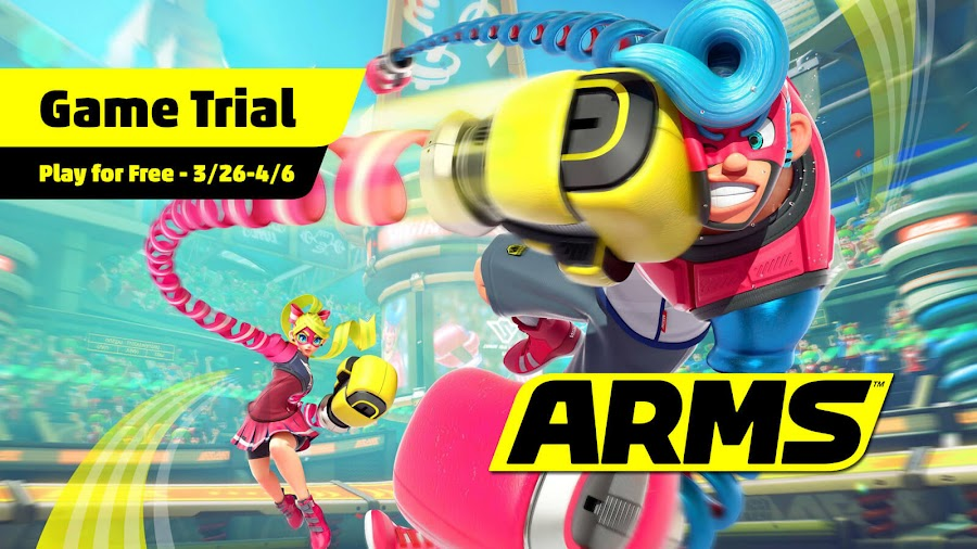 arms limited time free trial ribbon girl spring man nintendo switch 3d fighting sports game