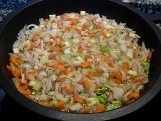 Sofrito de verduras.