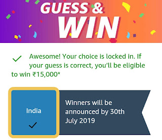 Amazon Guess and Win June 2019 Win Rs 15000 | Free Stuff, Contests