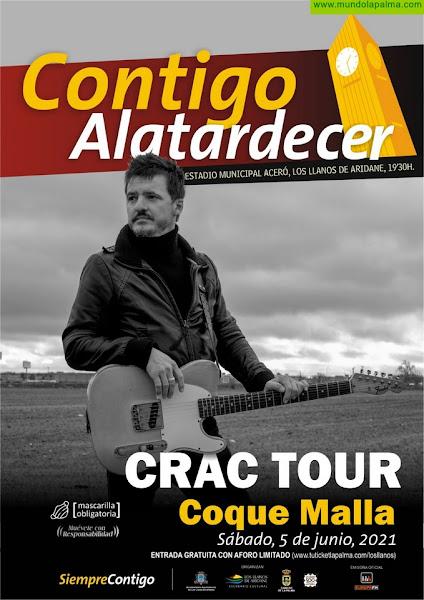 Tras su aplazamiento en marzo de 2020, Coque Malla actuará en Los Llanos de Aridane el 5 de junio