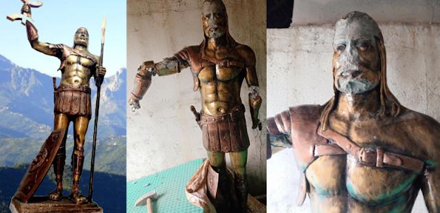 تمثال الملك الامازيغي اكسيل كسيلة