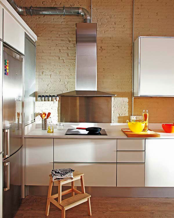 kitchen design Sistema do fogão para apartamento