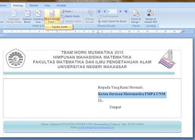 Membuat Surat Secara Massal Dengan Mail Merge Microsoft Word