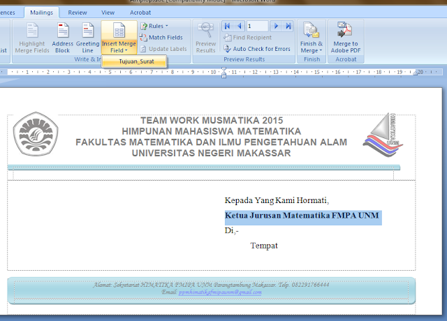 Cara Membuat Surat Secara Massal di Microsoft Word