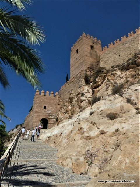 puerta de entrada a la Alcazaba de Almería
