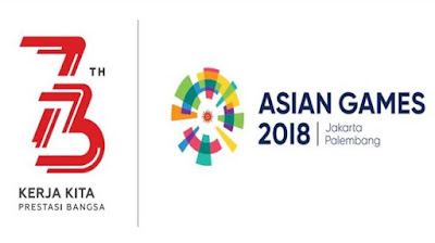 Logo HUT RI  ke 73 dan Logo Asian Game