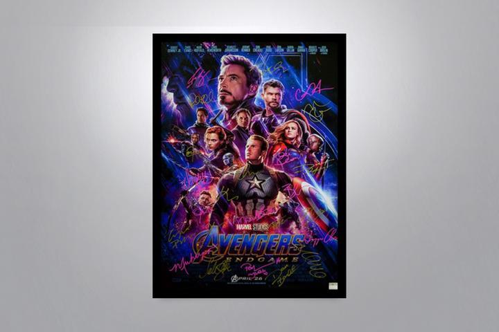 Avengers Endgame Movie Poster Signed