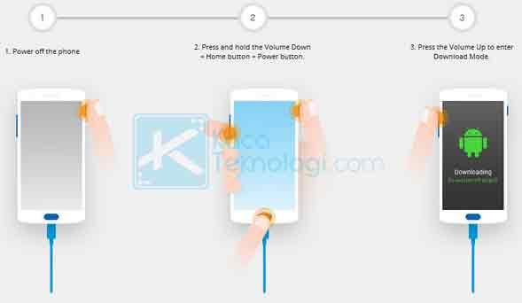 Masuk ke download mode. Untuk masuk ke download mode di aplikasi Dr. Fone silakan ikuti langkah di bawah ini: