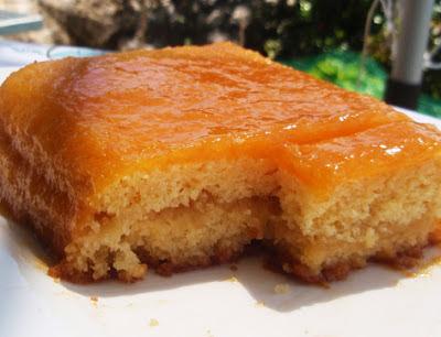 tarta ligera de manzana y albaricoque