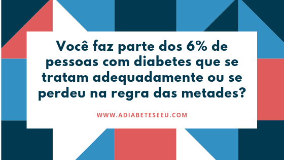 regra das metades, diabetes, cuidados, diagnóstico, tratamento