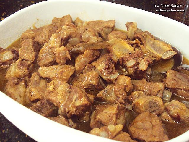 costillas de cerdo en salsa olla rápida