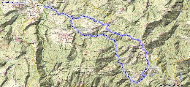 Mapa ruta Molinos Río Profundu