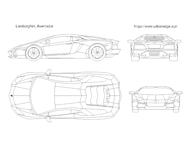Car cad block dwg free download - Lamborghini Aventador
