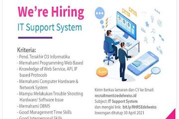 Lowongan Kerja Bandung IT Support System Edelweiss Hospital