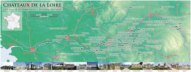 lista castelelor de pe valea loarei franta