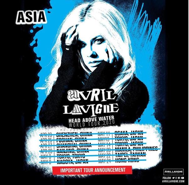 Avril Lavigne's 2020 Philippine Concert Postponed
