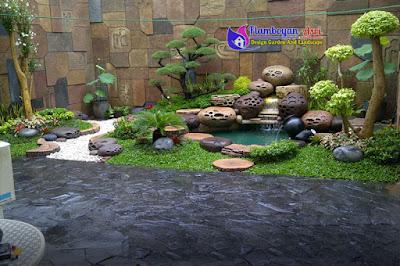 Gambar desain relief kolam tebing