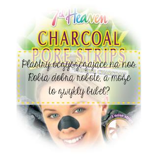 7th Heaven - CHARCOAL PORE STRIPS - Oczyszczające plastry na nos.