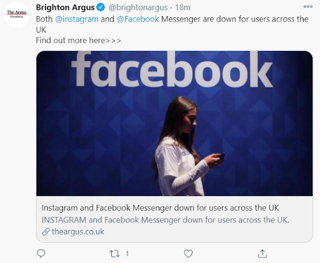 Facebook Messenger Down UK