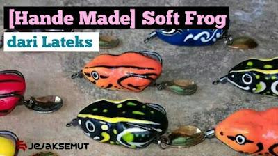 Cara Membuat Soft Frog dari Lateks